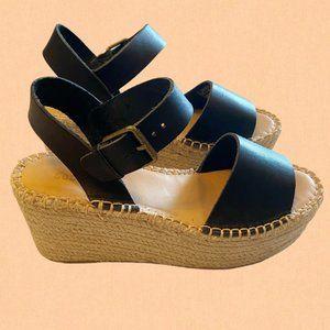 Soludos Minorca high platform sandals black